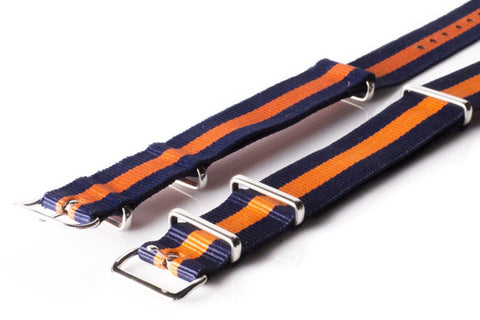 NATO Regimental Strap Navy and Orange - Cheapest NATO Straps  - 2