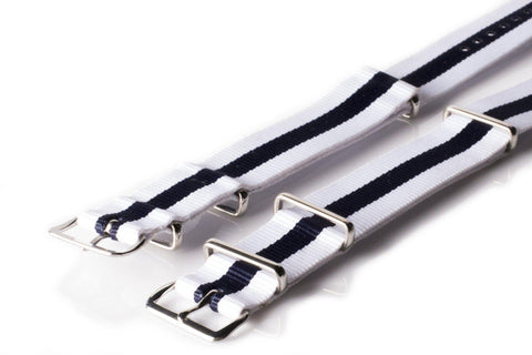 NATO Regimental White and Blue - Cheapest NATO Straps  - 2