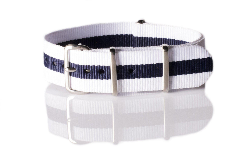 NATO Regimental White and Blue - Cheapest NATO Straps  - 1