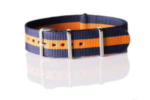 NATO Regimental Strap Navy and Orange - Cheapest NATO Straps  - 1