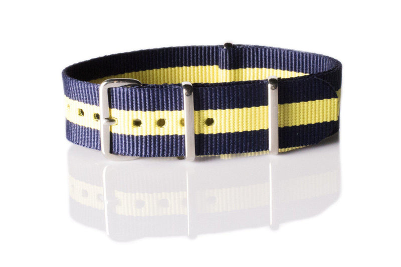 NATO Regimental Strap Navy and Yellow - Cheapest NATO Straps  - 1