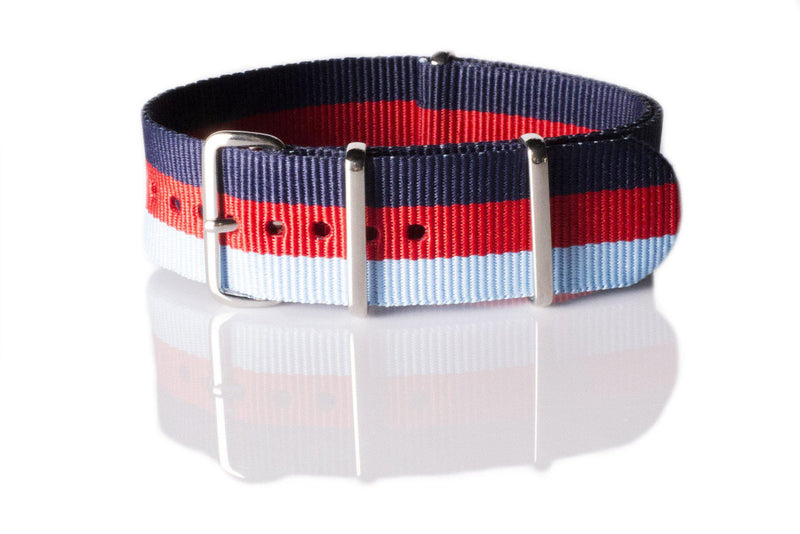 NATO Regimental Strap Navy, Red and Light Blue - Cheapest NATO Straps  - 1