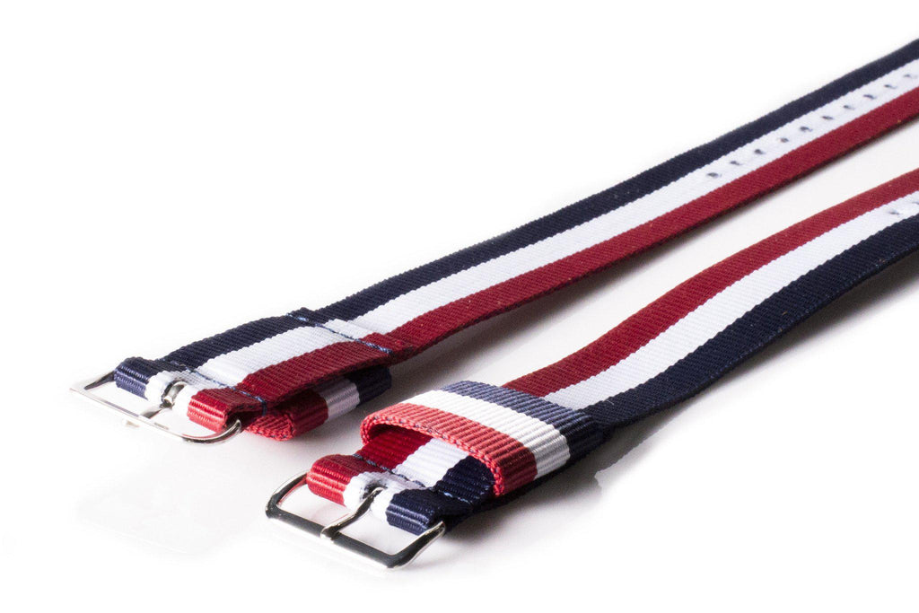 Original NATO Strap Red, White and Navy - Cheapest NATO Straps  - 2