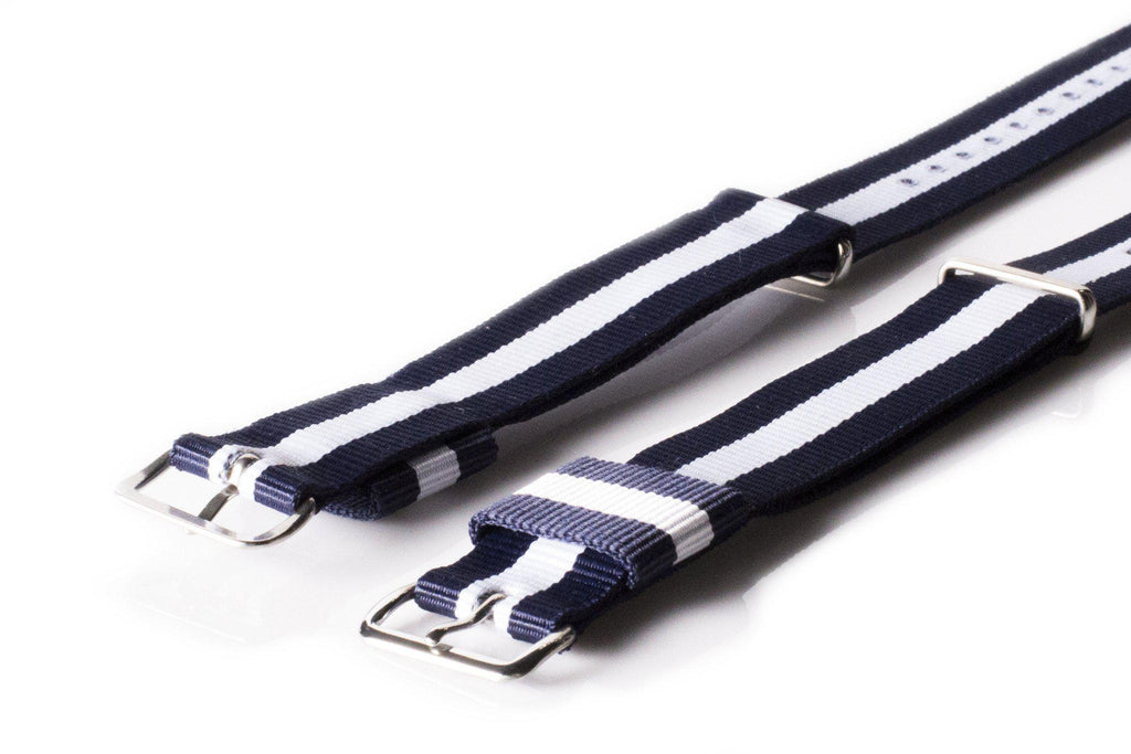Premium Original NATO Strap Navy and White - Cheapest NATO Straps  - 2