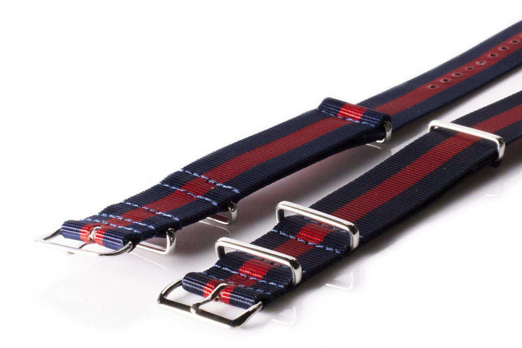 Extra Long Premium NATO strap Navy and Red - Cheapest NATO Straps  - 2
