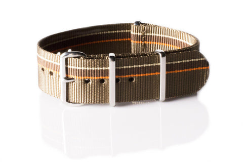 Premium NATO Strap Khaki, Orange, Brown and Beige - Cheapest NATO Straps  - 1