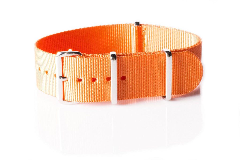 Extra Long Premium NATO strap Orange - Cheapest NATO Straps  - 1
