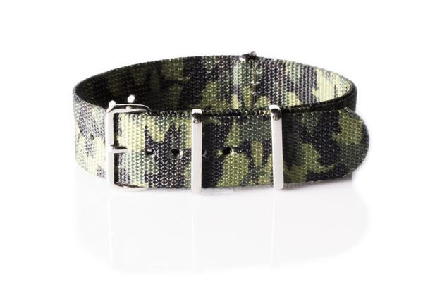 Premium NATO Strap Camouflage Jungle 20 mm