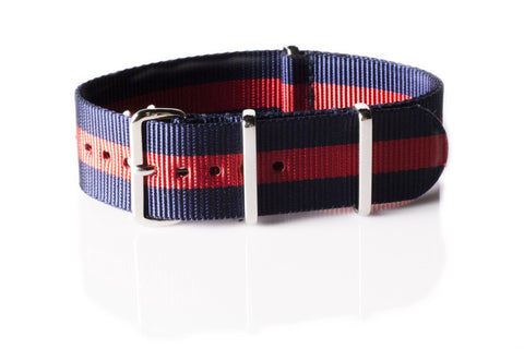 Extra Long Premium NATO strap Navy and Red - Cheapest NATO Straps  - 1