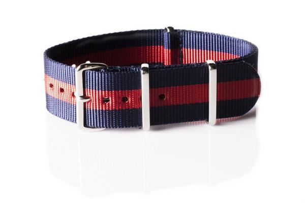 Premium NATO strap Navy and Red