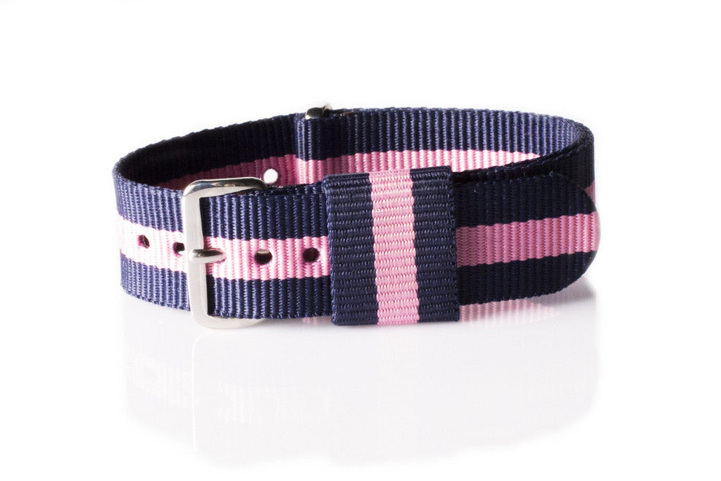 Premium Original NATO Strap Navy and Pink - Cheapest NATO Straps  - 1