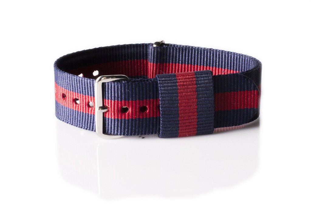Premium Original NATO Strap Navy and Red - Cheapest NATO Straps  - 1