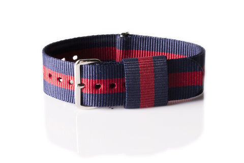 "Original NATO Strap Black and Gray ""James Bond"""