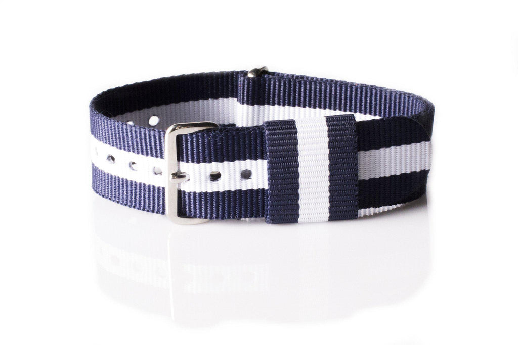 Premium Original NATO Strap Navy and White - Cheapest NATO Straps  - 1