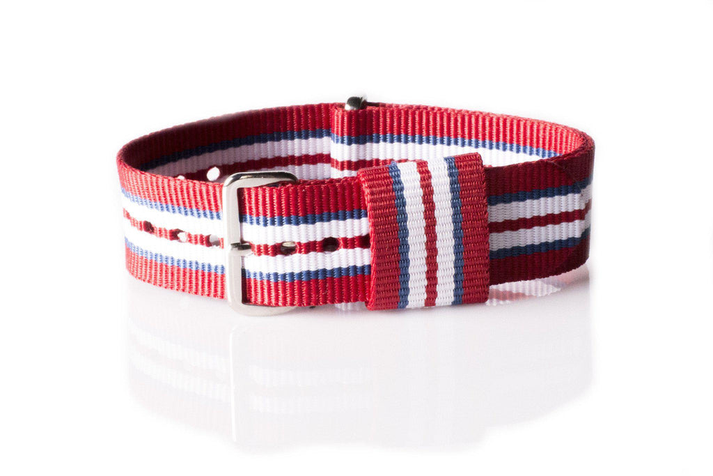 Premium Original NATO Strap Norway, Red, Blue and White - Cheapest NATO Straps  - 1
