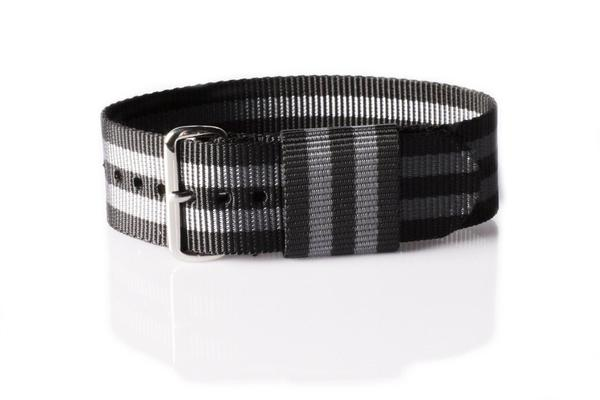 "RAF Strap Black and Gray ""James Bond"""