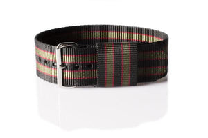 "RAF Strap Black, Red and Green ""James Bond"""