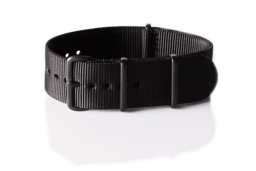 Extra Long PVD NATO Strap Black - Cheapest NATO Straps  - 1