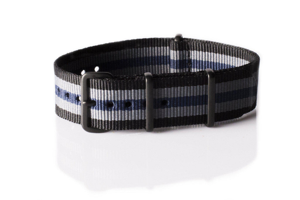 PVD premium NATO Strap Black, Gray and Blue - Cheapest NATO Straps  - 1