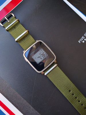 Brushed Premium NATO strap Khaki Green