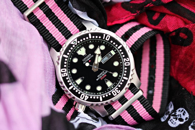 NATO Regimental Strap Black and Pink