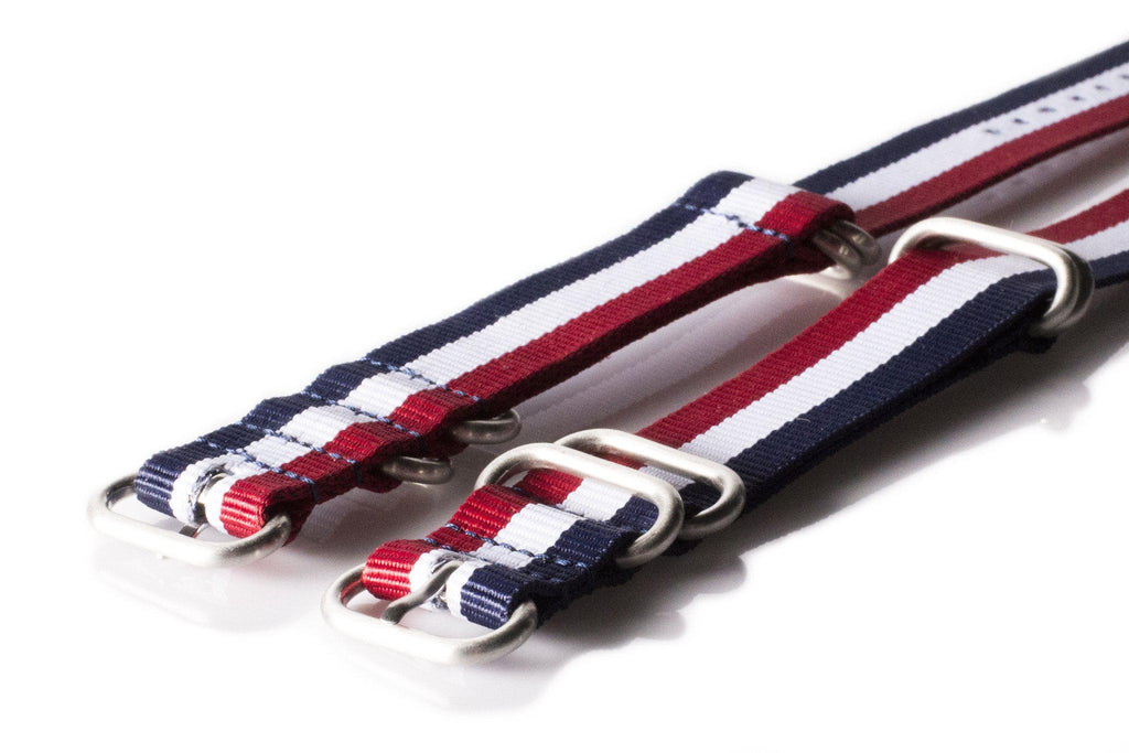 Zulu strap SS 5-ring Red, White and Navy - Cheapest NATO Straps  - 2