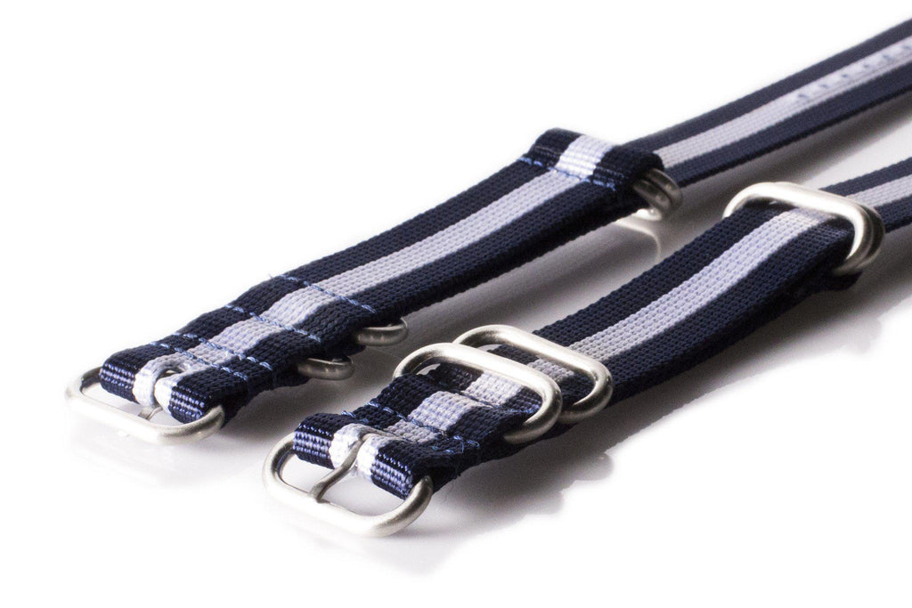 Zulu strap SS 5-ring Navy and White - Cheapest NATO Straps  - 2