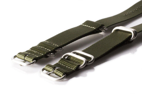Extra Long Zulu strap SS 5-ring Khaki Green - Cheapest NATO Straps  - 2
