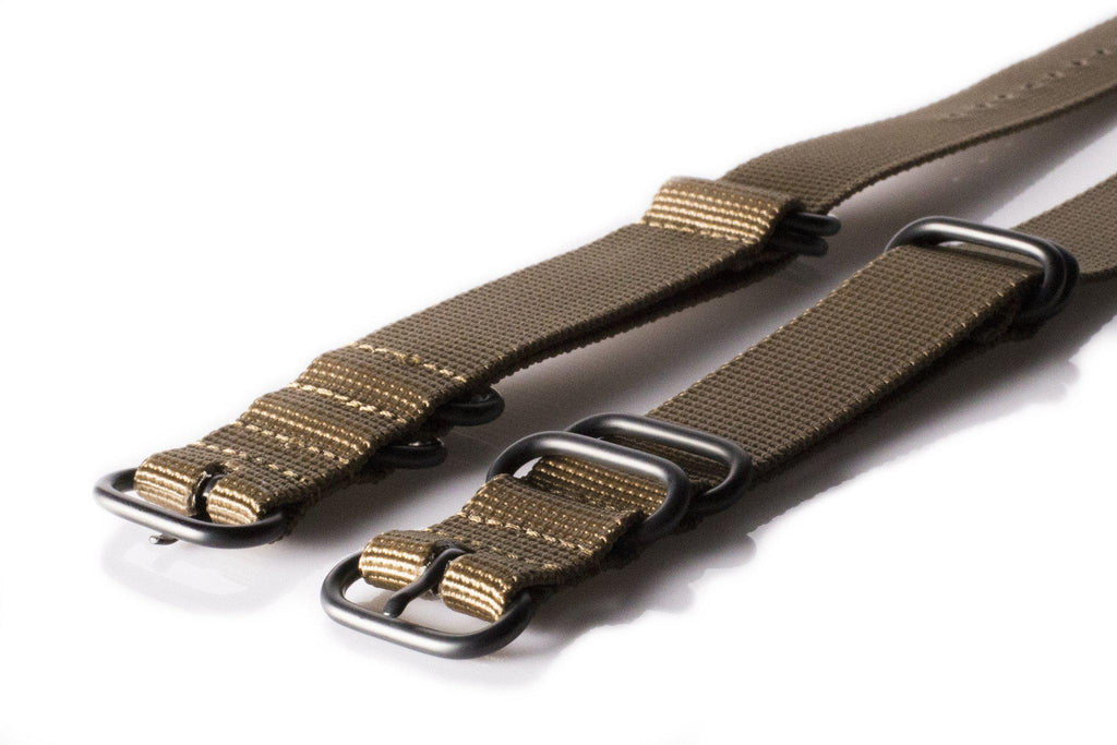 Extra Long PVD Zulu Strap 5-ring Khaki - Cheapest NATO Straps  - 2