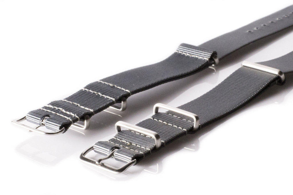 Brushed Premium NATO strap Gray - Cheapest NATO Straps  - 2
