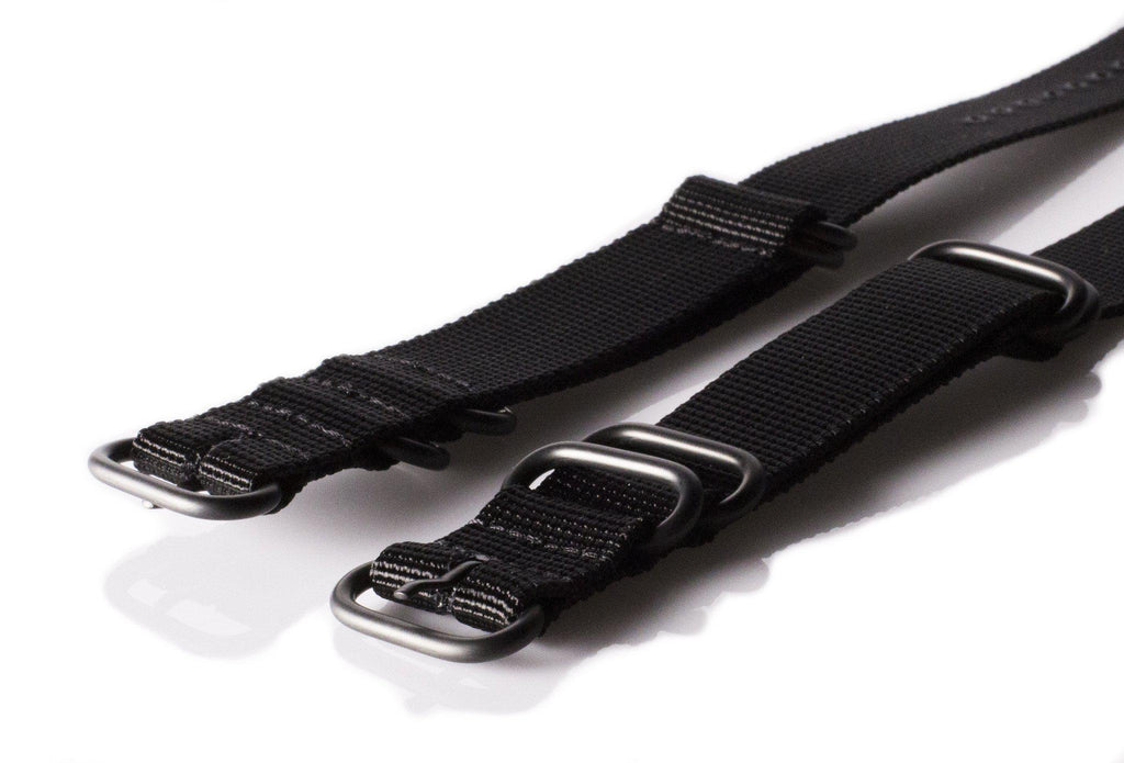 Extra Long PVD Zulu Strap 5-ring Black - Cheapest NATO Straps  - 2