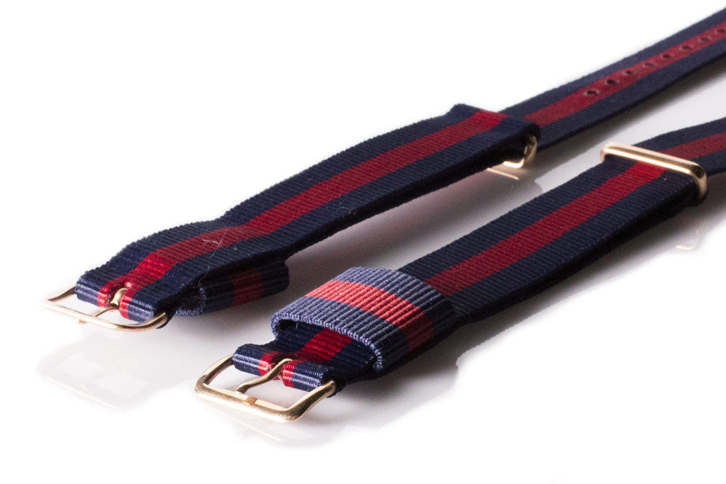 Rose Gold Premium Original NATO Strap Navy and Red - Cheapest NATO Straps  - 2