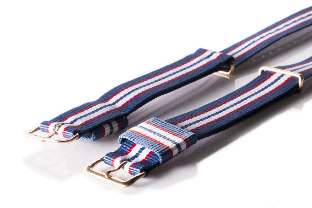 Rose Gold Premium Original NATO Strap Australia, Blue, Red and White - Cheapest NATO Straps  - 2