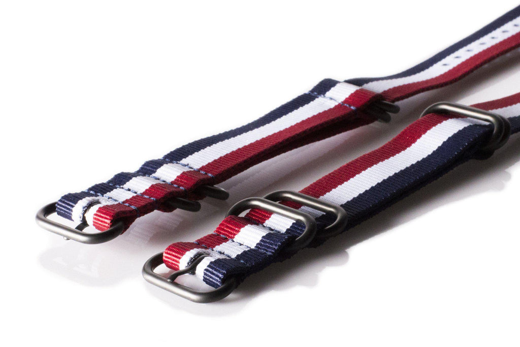 PVD Zulu Strap 5-ring Red, White and Navy - Cheapest NATO Straps  - 2