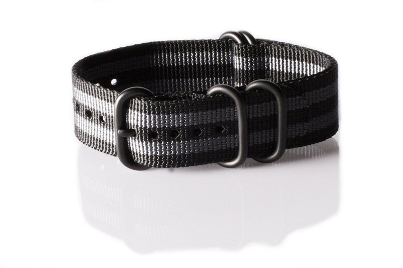 PVD Zulu Strap 5-ring Black and Gray