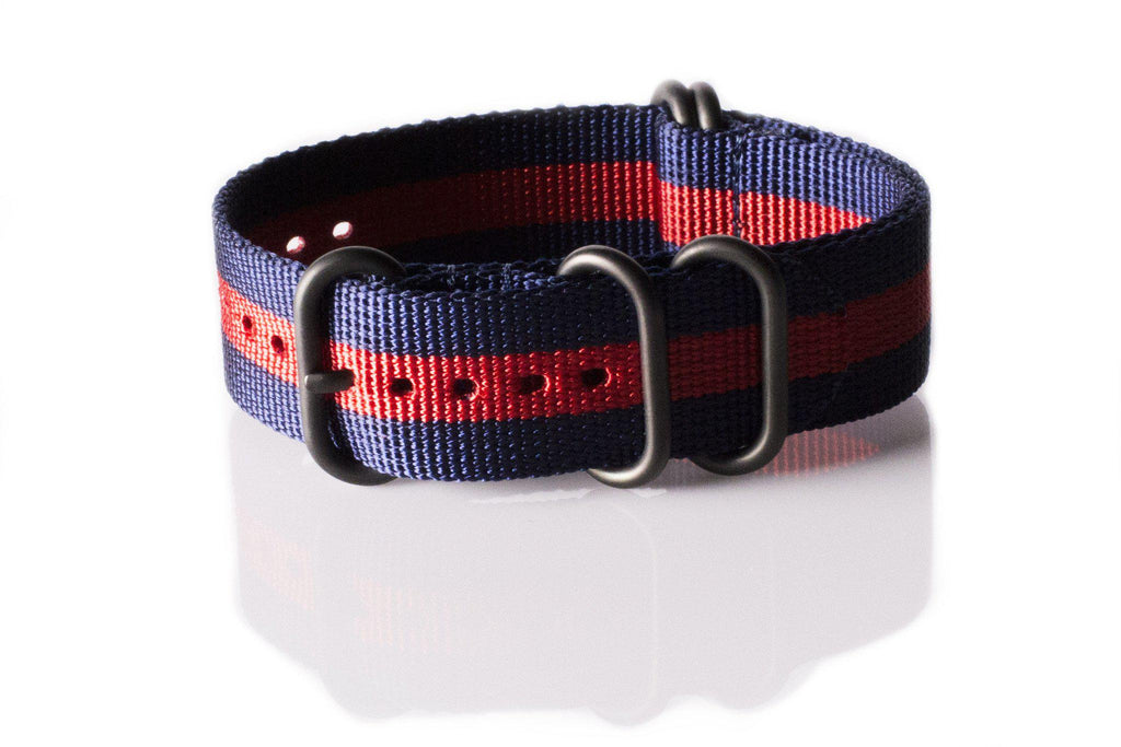 PVD Zulu Strap 5-ring Navy and Red - Cheapest NATO Straps  - 1