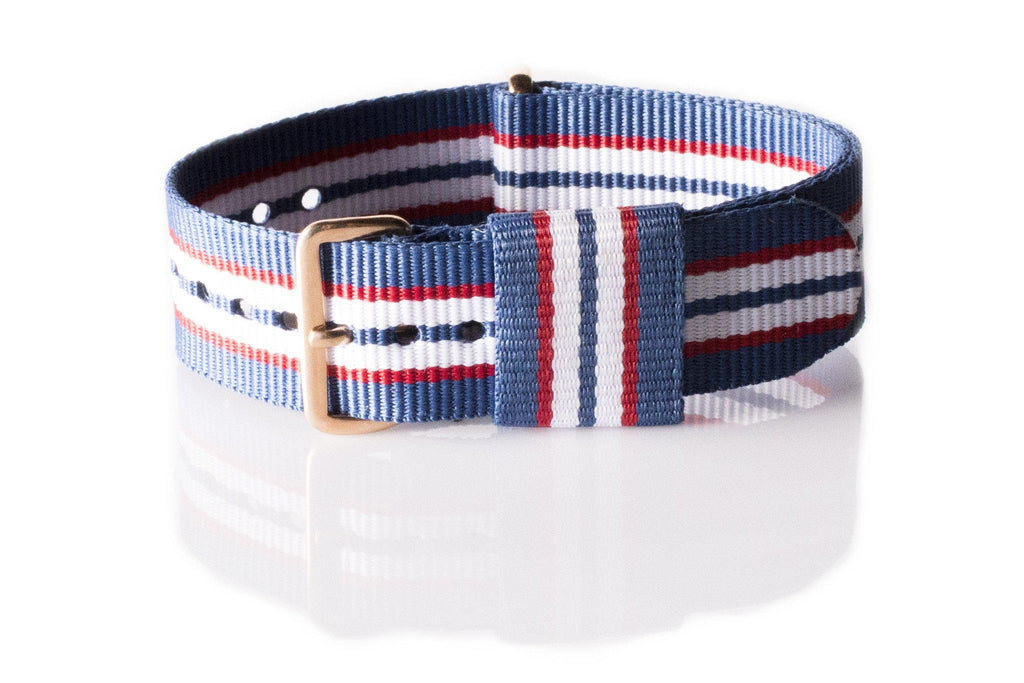 Rose Gold Premium Original NATO Strap Australia, Blue, Red and White - Cheapest NATO Straps  - 1
