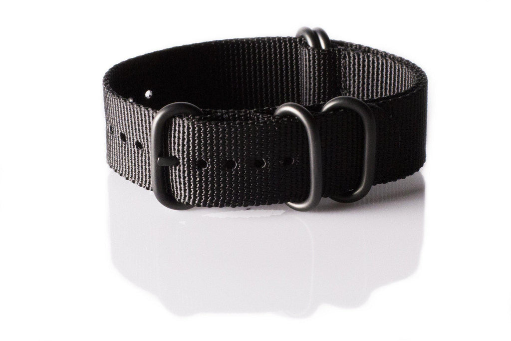 PVD Zulu Strap 5-ring Black - Cheapest NATO Straps  - 1