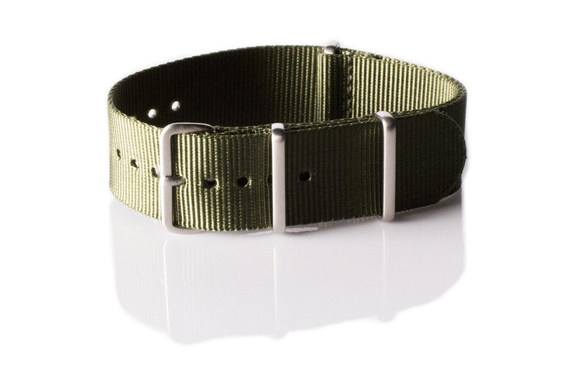 Brushed Premium NATO strap Khaki Green - Cheapest NATO Straps  - 1