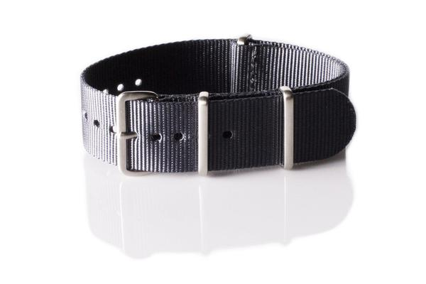 Brushed Premium NATO strap Dark Gray