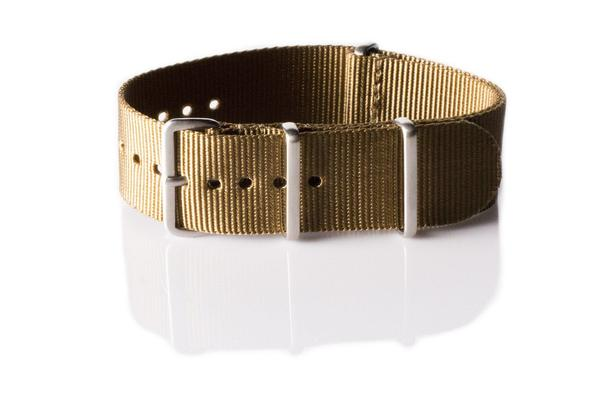 Brushed Premium NATO strap Golden Brown