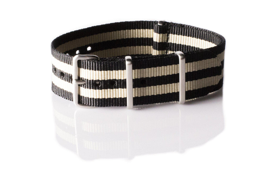 Brushed Premium NATO strap Black and Gold - Cheapest NATO Straps  - 1
