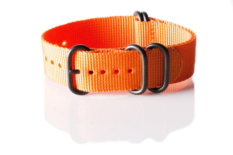 Extra Long PVD Zulu Strap 5-ring Orange - Cheapest NATO Straps  - 1