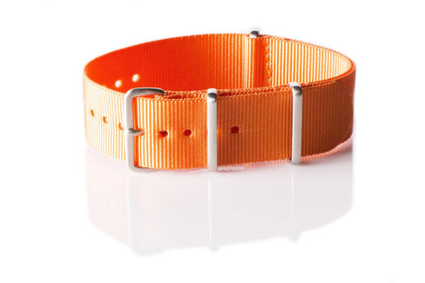 Brushed Premium NATO strap Orange - Cheapest NATO Straps  - 1