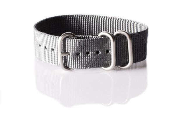 Zulu strap 3-ring Gray