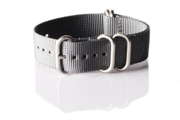 Zulu strap 5-ring Gray
