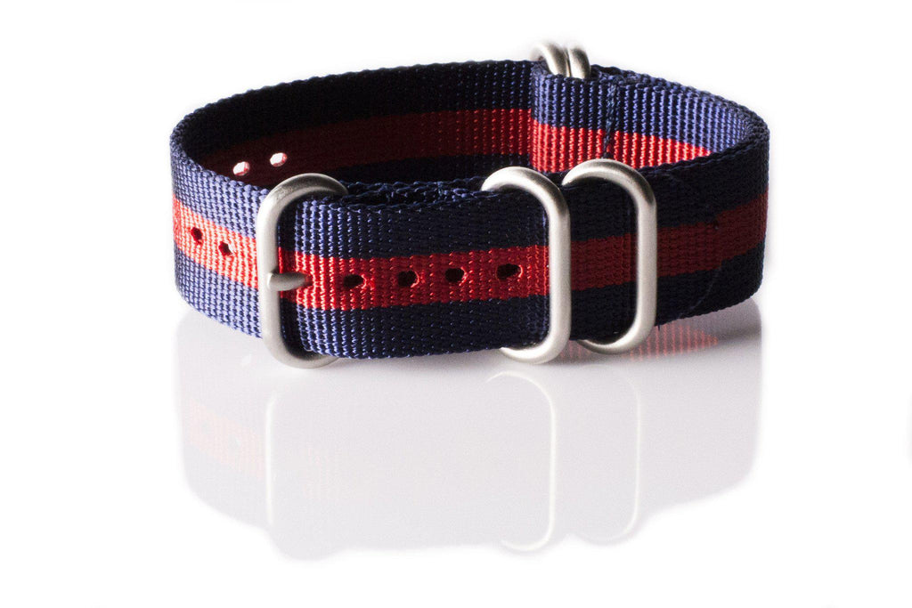 Zulu strap SS 5-ring Navy and Red - Cheapest NATO Straps  - 1