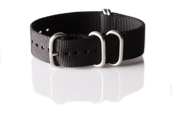 Zulu strap 5-ring Black