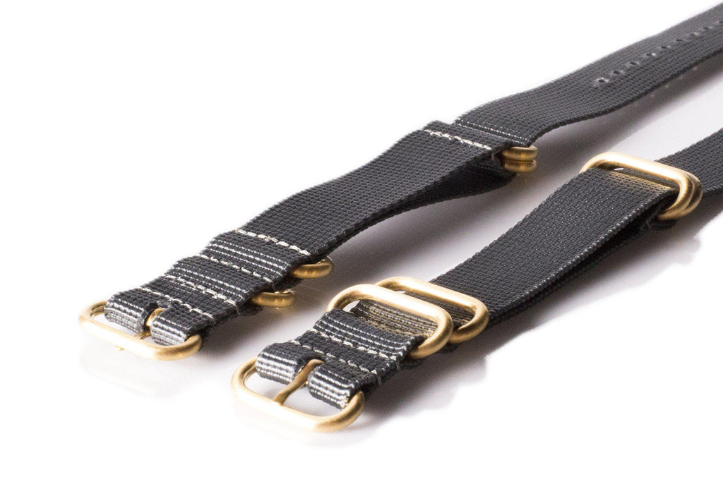Gold Zulu strap 5-ring Gray - Cheapest NATO Straps  - 2