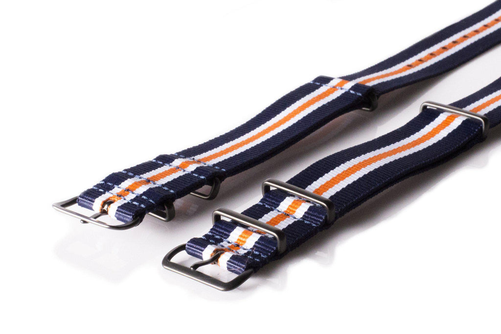 PVD premium NATO Strap Navy, White and Orange - Cheapest NATO Straps  - 2